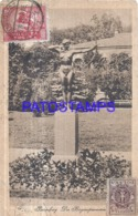 120364 POLAND BROMBERG THE BAGS SPAMMERIN STATUE CIRCULATED TO ARGENTINA  POSTAL POSTCARD - Poland