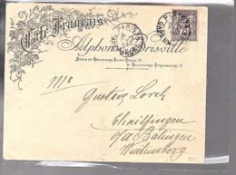 1897 Café Franchis Alphonse Brisville > Gustave Lorch Württemberg (667) - 1898-1900 Sage (Type III)