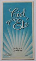 Carte Parfumée En Très Bon état Parfum Ciel D'été L. T. Piver Paris - Vintage (until 1960)
