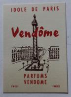 Carte Parfumée En Très Bon état Parfum Idole De Paris Vendôme Paris - Vintage (until 1960)