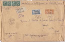 LETTRE EN DATE DE 1924 AVEC TIMBRE FRANÇAIS SURCHARGE SYRIE / TRÈS RARE - Oblitérés
