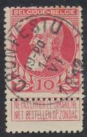 "Grosse Barbe - N°74 Obl Simple Cercle ""Cronfestu"" (T2 R) / COBA : 15. Superbe ! - 1905 Thick Beard"