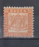 Baden Michel Kat.Nr. Ohne Gummi 22 - Baden