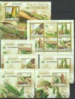 AA256 2009 UNION DES COMORES FAUNA REPTILES LES SAURIENS 1KB+1BL+5 LUX BL MNH - Reptilien & Amphibien