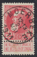 """Grosse Barbe - N°74 Obl Simple Cercle """"Moerbeke"""" (T2 L). Superbe - 1905 Barbas Largas"""
