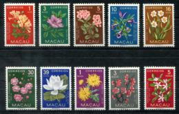 4953 - MACAU - Mi. 394-403 Postfrisch (395 Unberechnet) BLUMEN - Mnh Flowers (395 Not Charged) - Briefmarken