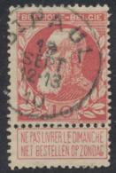 "Grosse Barbe - N°74 Obl Simple Cercle ""St - Paul"" / COBA : 30 - 1905 Thick Beard"