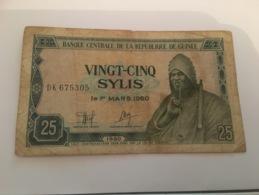 Billet 25 Sylis Guinee 1960 - Guinée