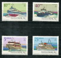 4955 - MACAU - Mi. 558-561 Postfrisch - Schiffe - Mnh Ships - Briefmarken