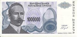 BOSNIE HERZEGOVINE 1 MILLION DINARA 1993 UNC P 152 - Bosnia And Herzegovina