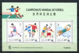 4957 - MACAU - Block 27 Postfrisch - Fußball - Mnh Mini Sheet Soccer - Briefmarken
