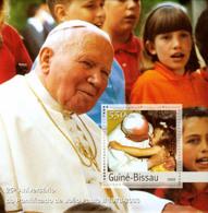 Guine-Bissau 2003 25th Anniversary Of Pope S/s. - Guinea-Bissau