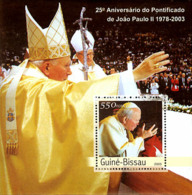 Guine-Bissau 2003 25th Anniversary Of Pope S/s. - Guinée-Bissau