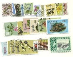 Uganda - Lotto Di  23 Francobolli - Uganda (1962-...)