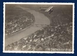 Suisse. Bâle. Vue Aérienne. Aéroplane Comte A.C. 8  Survolant La Ville. 1931 - BS Bâle-Ville