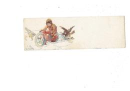Mignonnette Petite Cpa Illustration Style Bertiglia - Signé ? - Motard Garçon Moto Oie Poule Chien - 4308-2 - Autres Illustrateurs
