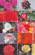 10 Télécartes - Prepaid Différentes JAPON * FLEURES * ROSES (LOT A-81) JAPAN 10 DIFF FLOWERS PHONECARDS * 10 VERSCH TK - Bloemen