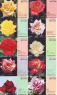 10 Télécartes - Prepaid Différentes JAPON * FLEURES * ROSES (LOT A-84) JAPAN 10 DIFF FLOWERS PHONECARDS * 10 VERSCH TK - Fleurs