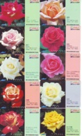 10 Télécartes - Prepaid Différentes JAPON * FLEURES * ROSES (LOT A-85) JAPAN 10 DIFF FLOWERS PHONECARDS * 10 VERSCH TK - Fleurs