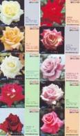10 Télécartes - Prepaid Différentes JAPON * FLEURES * ROSES (LOT A-87) JAPAN 10 DIFF FLOWERS PHONECARDS * 10 VERSCH TK - Fleurs