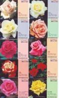 10 Télécartes - Prepaid Différentes JAPON * FLEURES * ROSES (LOT A-88) JAPAN 10 DIFF FLOWERS PHONECARDS * 10 VERSCH TK - Fleurs