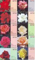 10 Télécartes - Prepaid Différentes JAPON * FLEURES * ROSES (LOT A-90) JAPAN 10 DIFF FLOWERS PHONECARDS * 10 VERSCH TK - Fleurs