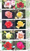 10 Télécartes - Prepaid Différentes JAPON * FLEURES * ROSES (LOT A-91) JAPAN 10 DIFF FLOWERS PHONECARDS * 10 VERSCH TK - Fleurs