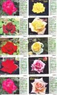 10 Télécartes - Prepaid Différentes JAPON * FLEURES * ROSES (LOT A-92) JAPAN 10 DIFF FLOWERS PHONECARDS * 10 VERSCH TK - Fleurs