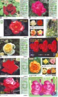 10 Télécartes - Prepaid Différentes JAPON * FLEURES * ROSES (LOT A-93) JAPAN 10 DIFF FLOWERS PHONECARDS * 10 VERSCH TK - Fleurs