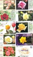 10 Télécartes - Prepaid Différentes JAPON * FLEURES * ROSES (LOT A-94) JAPAN 10 DIFF FLOWERS PHONECARDS * 10 VERSCH TK - Fleurs