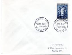 MARINE = 59 DUNKERQUE 1958  = CACHET PREMIER JOUR  ' JEAN BART  ' + N° Yvt 1167 - FDC