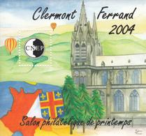 FRANCE  BLOC SOUVENIR 2004 N° 40/41/42    CLERMONT /PARIS - CNEP