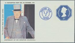 Großbritannien - Ganzsachen: 1840/1980 (ca.) Wonderful Holding Of 600 Unused/CTO-used And Used Posta - 1840 Mulready-Umschläge