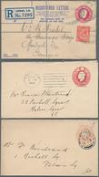 Großbritannien - Ganzsachen: 1901/26 Ca. 45 Postal Stationery Envelopes Incl. Three Registered Envel - 1840 Mulready-Umschläge