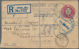 Großbritannien - Ganzsachen: 1902/53 KINGS Ca. 220 Unused And Commercially Used Postal Stationeries, - 1840 Mulready-Umschläge