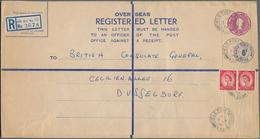 Großbritannien - Ganzsachen: 1929/87 Ca. 30 Unused And Commercially Used Oversized (H-K) Postal Stat - 1840 Mulready-Umschläge