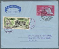 Großbritannien - Ganzsachen: 1945/2003 (ca.), AEROGRAMMES: Accumulation With About 2.000 (!) Commerc - 1840 Mulready-Umschläge