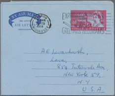 Großbritannien - Ganzsachen: 1953/60 34 Unused And Commercially Used Aerograms,6d House Of Parliamen - 1840 Mulready-Umschläge