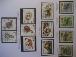 Polen- Satz Geschützte Tiere Mi. 885A-888A, Mi. 2975-2977, Mi. 2947-2951mit , 1 Blatt Marken Mit Falz - 1944-.... Republik