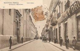 Cpa Buenos Aires Calle Alsina - Argentina
