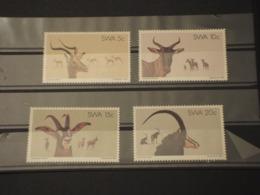 SUD AFRICA/SWA - 1980 ANIMALI 4  VALORI -  NUOVI(++) - Sud Africa (1961-...)