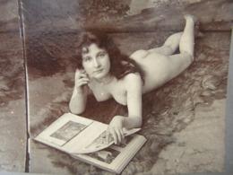 Photo Stereo Stereoscopique Erotique Pornographique Curiosa Femme Seins Nus Lingerie Nude Tits - Photos Stéréoscopiques