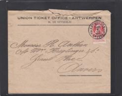 FIRMENLOCHUNG/PERFIN/PERFORATION. UNION TICKET OFFICE - ANTWERPEN. - 1909-34
