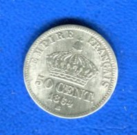 50  Cents  1864 Bb - France