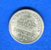 50  Cents  1864 Bb - Frankreich