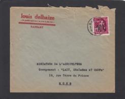 FIRMENLOCHUNG/PERFIN/PERFORATION. LOUIS DELHAIZE,RANSART. - 1946 -10%