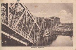 CPA - GUERRE 14-18 - CARTE ALLEMANDE - WEST FRONT - PONT CHEMIN DE FER DÉTRUIT - Oorlog 1914-18