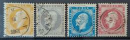 NORWAY 1856/57 - Canceled - Sc# 2, 3, 4, 5 - Usati