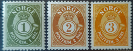 NORWAY 1937 - MNH - Sc# 162, 163, 164 - Neufs