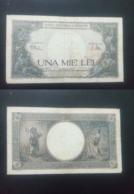 ROMANIA 1000 LIES BANKNOTE 23rd MARCH 1943 CIRCULATED LOOK !! - Rumania